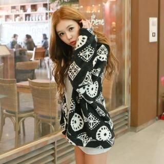 Koo - Open-Front Patterned Cardigan