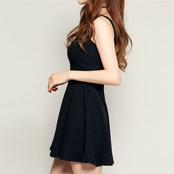 chuu - V-Neck Skater Dress
