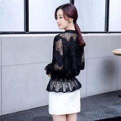 Romantica - Long-Sleeve Lace Top