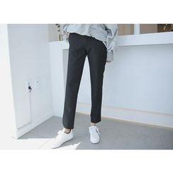 Envy Look - Band-Waist Straight-Cut Pants