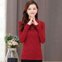 Lovebirds - Long-Sleeve Lace Top