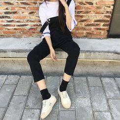 MISS YOYO - 九分背帶牛仔褲