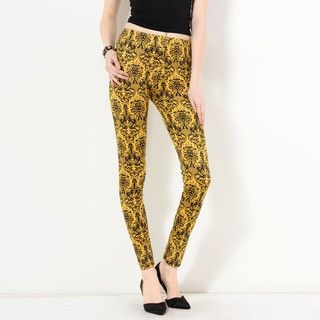 YesStyle Z - Baroque Print Leggings
