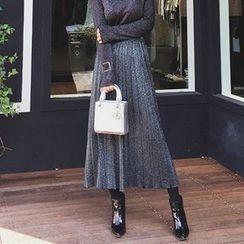 Cerulean - Pleated Long Skirt
