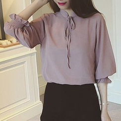 Jolly Club - Chiffon Blouse with Camisole Top
