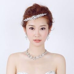 constello - Bridal Set: Rhinestone Tiara + Earrings + Necklace