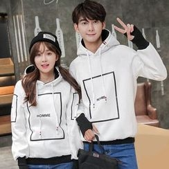 Lovebirds - Couple Printed Hoodie