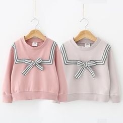 Seashells Kids - Kids Striped Bow Pullover