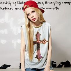 ELF SACK - Sleeveless Printed T-Shirt