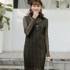 Romantica - Lace Shift Dress with Slipdress