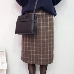 YUKISHU - Check A-Line Skirt