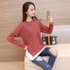 Aigan - Mock Two Piece Sweater