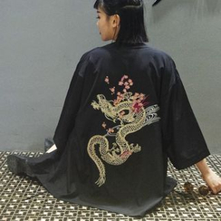 LINSI - Embroidered Kimono Jacket