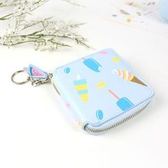 Cute Essentials - Ice Cream Print Zip Around Wallet