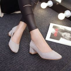 Pretty in Boots - Square Toe Pumps