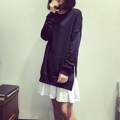 Bloombloom - Chiffon Hem Pullover Dress