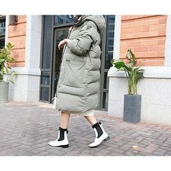 MARSHMALLOW - Zip-Up Padded Midi Jacket