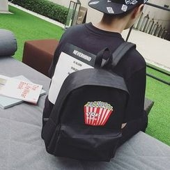 JUN.LEE - Popcorn Print Canvas Backpack
