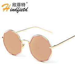 Koon - Cut Out Frame Round Sunglasses