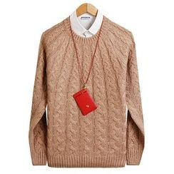 Seoul Homme - Raglan-Sleeve Knit Top