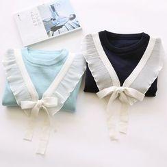 布丁坊 - 蝴蝶結針織套衫