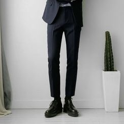 Seoul Homme - Flat-Front Dress Pants