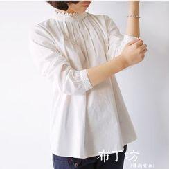 布丁坊 - 長袖蕾絲邊襯衫