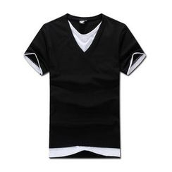 MR.PARK - Inset Top V-Neck T-Shirt