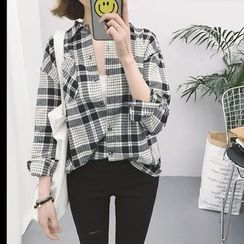 Eva Fashion - Plaid Shirt