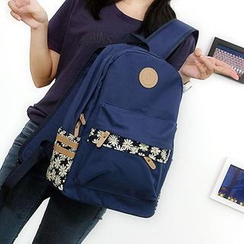 Bag Hub - Daisy Print Lightweight Backpack