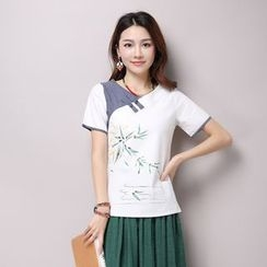 Splashmix - Short-Sleeve Embroidered Top