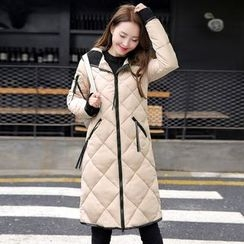 Rosehedge - Hooded Long Quilted Coat