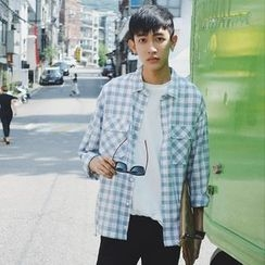 Mr. Cai - Long-Sleeve Check Shirt