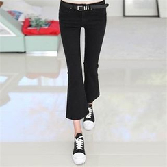 CHICFOX - Boot-Cut Cropped Jeans