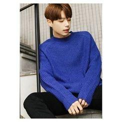 HOTBOOM - Raglan-Sleeve Wool Blend Sweater