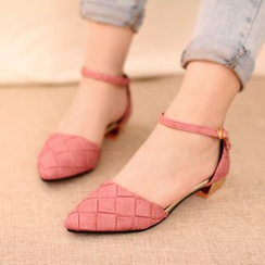 IYATO - Pointy-Toe Block-Heel Shoes