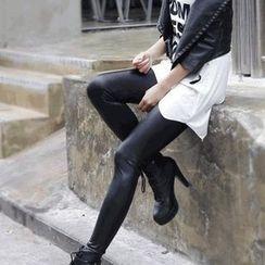 ENZA - Fleece Lined Faux Leather Leggings