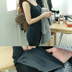 Dodostyle - Brushed Fleece Long Camisole Top