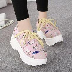 Mancienne - Platform Printed Sneakers