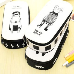 Tusale - Cartoon Print Pencil Case