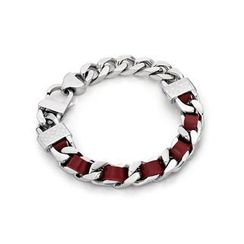 Kenny & co. - Red Leather Screw Bracelet