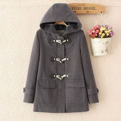 Aigan - Pocket-Accent Toggle Hooded Coat