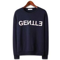 Seoul Homme - Letter Print Sweatshirt