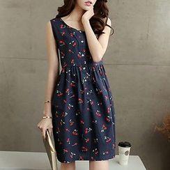 Rocho - Cherry Print Sleeveless Dress
