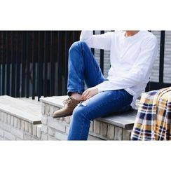 SCOU - Distressed Tapered Jeans