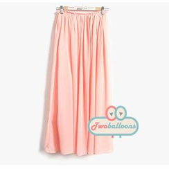 MYHEART - Pleated Maxi Skirt