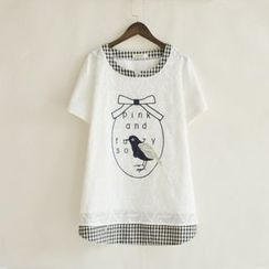 P.E.I. Girl - Embroidered Short-Sleeve T-Shirt
