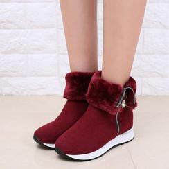 楊董 - 拉鍊短靴