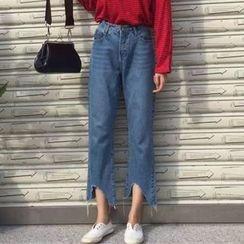 OCTALE - 八分寬腿牛仔褲