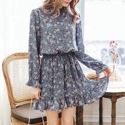 Tokyo Fashion - Long-Sleeve Printed Dress